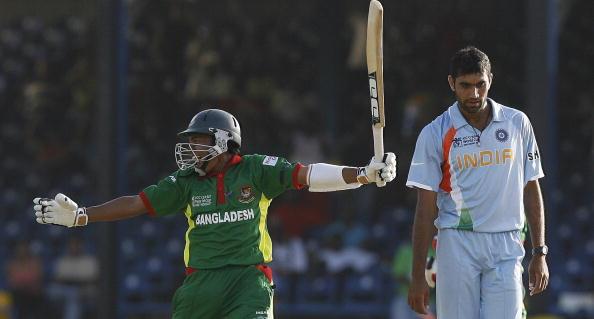 Bangladeshi Cricketer Mushfiqur Rahim (L